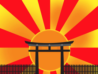 Japan Gate Abstract symbol