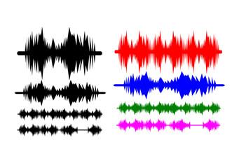 Sound waves Music background