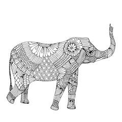 Embroidery elephant