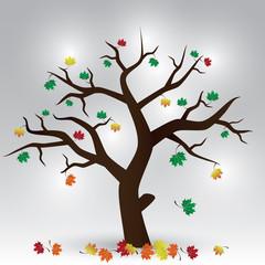 autumn tree eps10