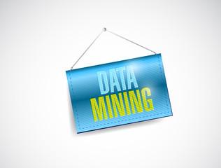 data mining hanging banner illustration design