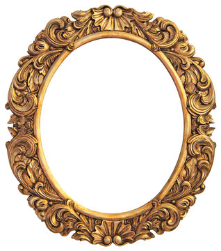 Antique gilded Frame Isolated with Clipping Path