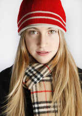 Teenage Girls enjoying the winter