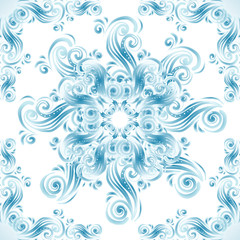 Vintage background with swirls ornaments
