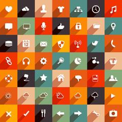 Modern Flat Web Icons