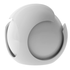 3d white abstract sphere