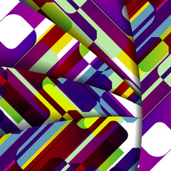 Abstract geometric shape illustration, colorful digital
