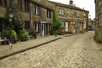 The village of Haworth, home of the Bronte sisters, UK