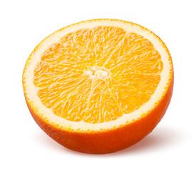 Orange. Half of fruit isolated on white background