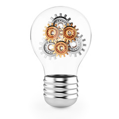 lightbulb with gears