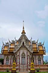 Church of Wat Sirsa Thong  Nakhon Pathom province, Thailand.