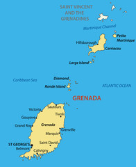 Grenada - vector map
