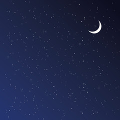 Night Sky. Vector illustration.