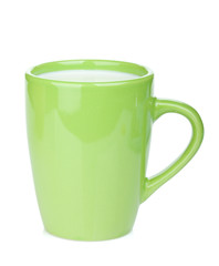 Green cup of milk