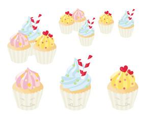 Cute glossy cupcakes