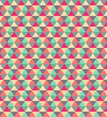 Poster ZigZag Beauty concept retro style polygonal pattern