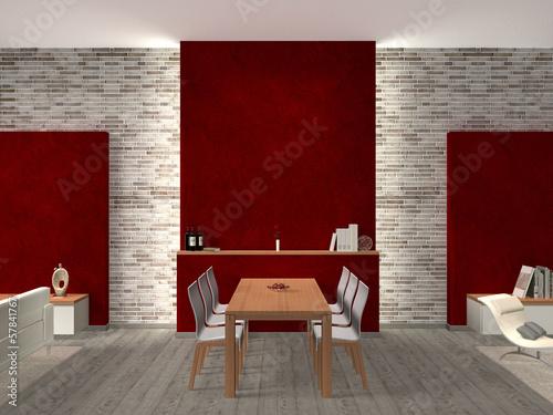 Esszimmer interior weinrot stockfotos und lizenzfreie bilder auf bild 57841767 - Esszimmer bremen ...