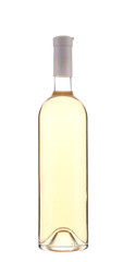 Full white wine bottle.