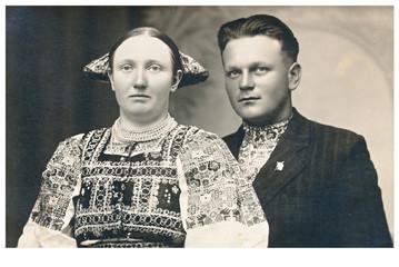 wedding day - circa 1940