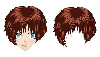 Anime brunette girl