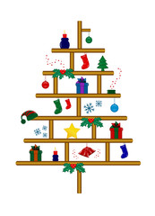 albero e oggetti di natale