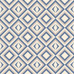 Photo sur Toile ZigZag Fashion pattern with squares and stars