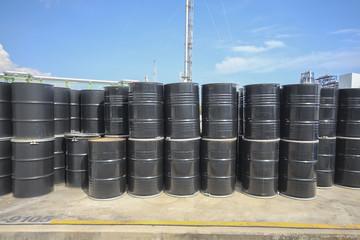 Chemical tank in storage yard