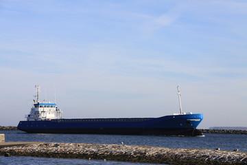 Tankschiff in Blau