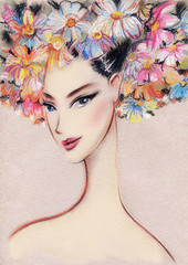 Beautiful woman.illustration