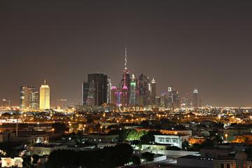 Дубай, ночной вид