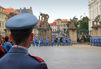 Guard in Prague