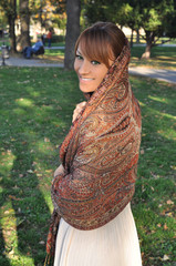 Beautiful arabian woman with hijab