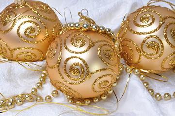 Group gold Christmas ball, decoration