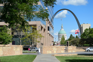 Fototapete - Downtown Saint Louis, Missouri