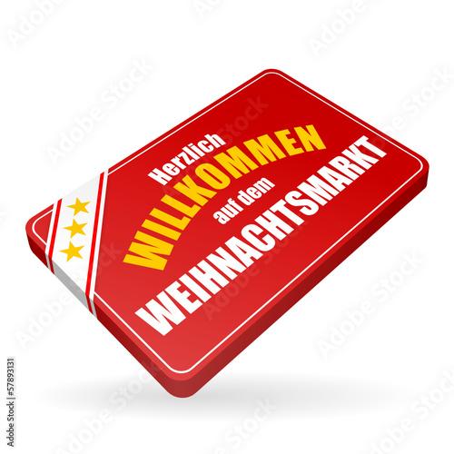 Weihnachtsmarkt I.Karte V4 Herzlich Willkommen Weihnachtsmarkt I Stock Image And