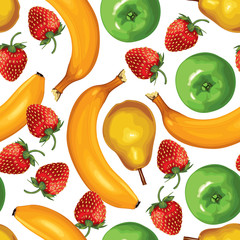 Fruit mix seamless pattern