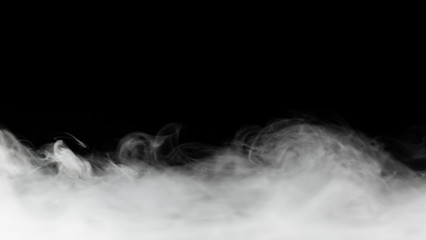 Canvas Prints Smoke dense smoke backdrop isolated on black