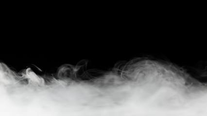 Spoed Fotobehang Rook dense smoke backdrop isolated on black
