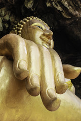 Hand of Buddha image in historical park, Thailand