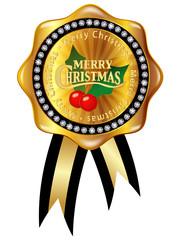 クリスマス ヒイラギ メダル