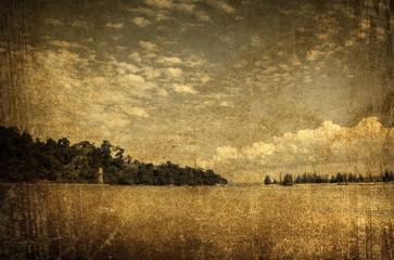 old seascape photo