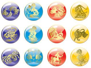 Zodiac Star Signs set . Vector set astrology sign.