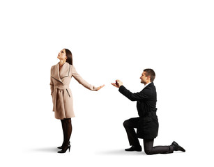 man making proposal of marriage