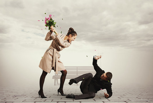 concept photo of quarrel