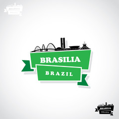 Brasilia paper sticker