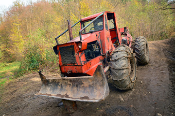 deforestation tractor