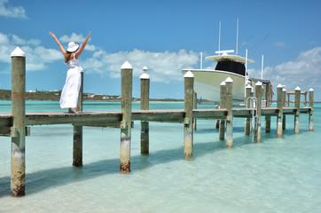 Beach scene. Exuma, Bahamas