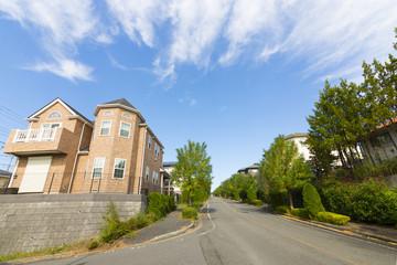 住宅分譲地の街並 イメージ