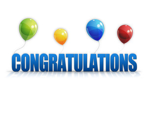 Congratulations Balloons 3D Background
