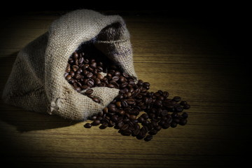 Robusta Coffee Beans on Goni Sack